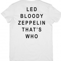 White T-Shirt | Classic Rock Shirts