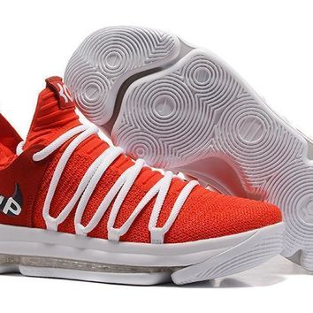 Nike Mens Kevin Durant Kd 10 University Red Basketball Shoes