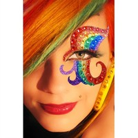 Xotic Rainbow Mask Kit : Colorful Eye Makeup and Stickers from RaveReady