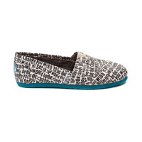 TOMS Classic Be The Change Casual Shoe, Black White | Journeys Shoes