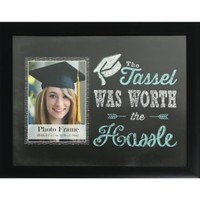 Black The Tassel Was Worth the Hassel Graduation Photo Frame 15 1/2in x 12 1/2in | Party City