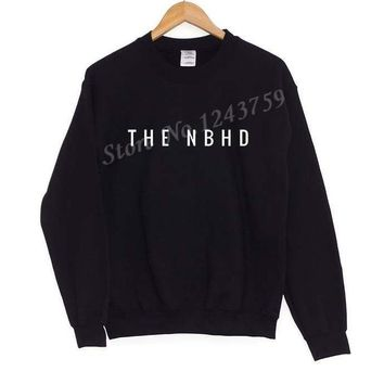 The NBHD neighbourhood Print Women Sweatshirt Jumper Casual Hoodies For Lady Hipster Street Black Gray Drop Ship ZT-15