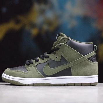 NIKE SB DUNK HIGH PRO Green Retro Sneaker 854851-330