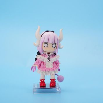 10cm Hot Anime Action Figure Miss Kobayashi's Dragon Maid KannaKamui Pink Q Ver Face Changeable Model Collectible Doll Brand New