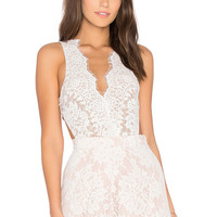 THE JETSET DIARIES x Revolve Secret Lace Bodysuit in Ivory