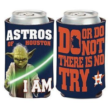HOUSTON ASTROS STAR WARS YODA KADDY KOOZIE CAN HOLDER BRAND NEW WINCRAFT