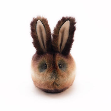 Stuffed Bunny Stuffed Animal Cute Plush Toy Bunny Kawaii Plushie Cinnamon Brown Bunny Rabbit Fuzzy Toy Medium Size 5x8 Inches