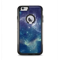 The Subtle Blue and Green Nebula Apple iPhone 6 Plus Otterbox Commuter Case Skin Set