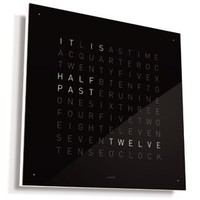 QLOCKTWO Wall Clock Black Ice Tea: Home & Kitchen