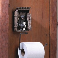 Bear in the Outhouse Toilet Paper Holder