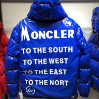 MONCLER winter fashion White goose blue Down jacket
