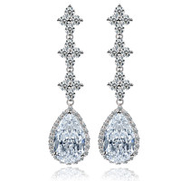 Fashion Accessory Stylish Water Droplets Crystal Earring Earrings [4918329156]
