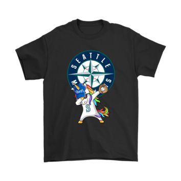 ESBV4S Hip Hop Dabbing Unicorn Flippin' Love Seattle Mariners Shirts