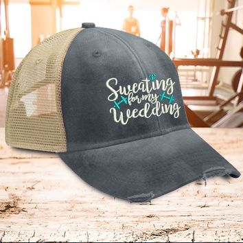 Sweating For My Wedding Hat