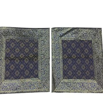 "Decorative Bed Pillow Covers Vintage Silk Sari Border Bohemian Pillow Cases 30""X 20"""