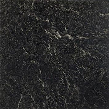 Ben&Jonah Collection Nexus Black with White Vein Marble 12x12 Self Adhesive Vinyl Floor Tile - 20 Tiles/20 sq Ft.