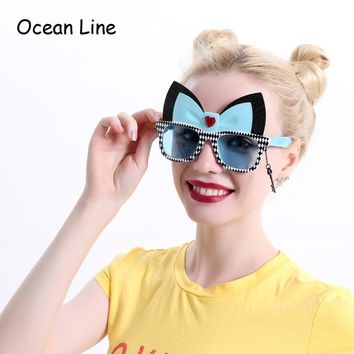 Alice In Wonderland Cheshire Cat Costume Glasses Cosplay Party Favors Fancy Dress Photo Booth Props Party Supplies Decoration