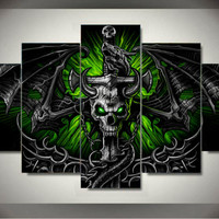 Wall Art Group Oil Painting skull dragon On Canvas For Wall Decor Wall Pictures Print Painting Unframed 5 Pieces/set