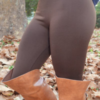 Back To Basics Leggings: Brown - One