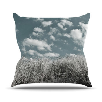 "Iris Lehnhardt ""Dunes"" Gray Blue Throw Pillow"