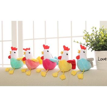 1Piece Random Color , Little 11cm Approx. Chicken Stuffed Plush TOY DOLL , Gift keychain Pendant Plush Toys dolls