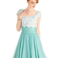 Breathtaking Belle Dress in Mint