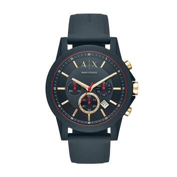 Armani Exchange Silicone Band Quartz Watch