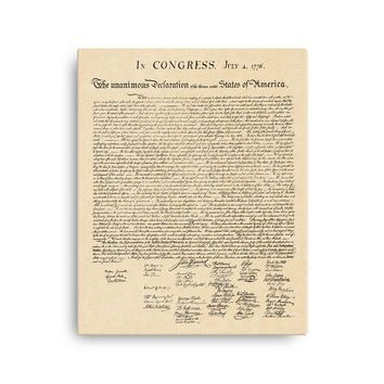 Declaration of Independence Canvas Wall Art