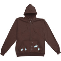 Clap Your Hands Say Yeah Women's  Girls Jr Hooded Sweatshirt Brown