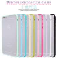 Slim Thin Colorful Hard PC Back Transparent Clear Matte Case For Apple iPhone 5C Colorful Candy Soft Frame Cover For iPhone 5c