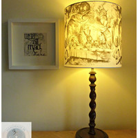 Alice in Wonderland - Curiouser and Curiouser - Lampshade / Light Fitting / Lamp Shade