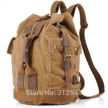 Vintage Military Canvas men travel bags