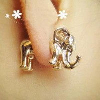 Cute Elephant Ear Stud