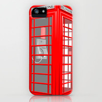 RED PHONE BOOTH iPhone & iPod Case by Ylenia Pizzetti