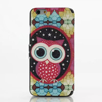 Cute Owl Leather creative case Cover for iPhone 6S 6 Plus Samsung Galaxy S6