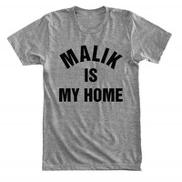 Malik is my home - For fangirl & fanboy - Gray/White Unisex T-Shirt - 080