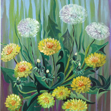 Dandelion * Bright picture. * Decorations * Painting On Canvas