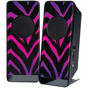 The Macbeth Collection Amplified Stereo Speaker (ombre Zebra)