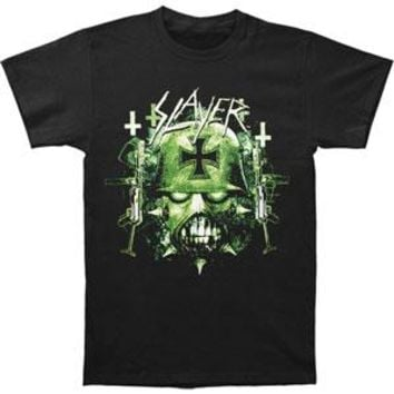 Slayer Men's  Green War Image T-shirt Black