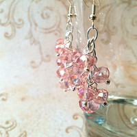 The Ava- Rose Swarovski Crystal Cluster Earrings