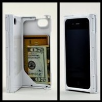 iFunner iTur, iPhone 4 4s Case,Hard Plastic Durable ID Credit Card Slim Wallet Case,Holds 4,AT&T Verizon Sprint White