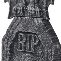 halloween decorations: tombstone gargoyle ornate