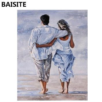 BAISITE Frameless DIY Oil Painting Pictures By Numbers On Canvas Wall Pictures Wall Art For Living Room Home Decoration 953