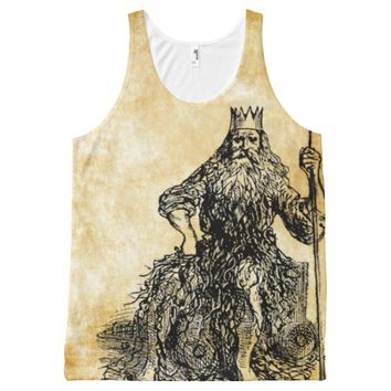 father neptune on parchment All-Over-Print tank top