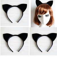 Black Long CAT/FOX Ears Headband Cosplay Party Black Friday / Cyber Monday weekend DDML-021 = 1930083780