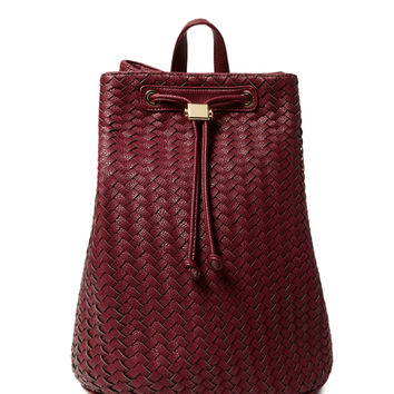 Deux Lux Women's Woven Varick Backpack - Green