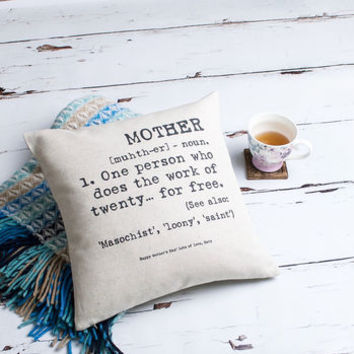 'Mother' Personalised Cushion Cover