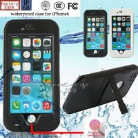 iPhone 6 Waterproof Case, ELENKER™ Armor Defender IP-68 waterproof Shockproof Dirt Proof Snow Proof Heavy Duty Full Body Skin Case Protective Cover with Hand Strap & Headphone Adapter for Apple iPhone 6 4.7 inch Screen (Black)
