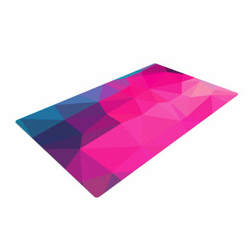 "Oriana Cordero  ""Poly-Sunrise"" Pink Purple Woven Area Rug"