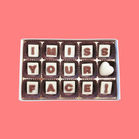 I Miss Your Face Marble Chocolate Letters